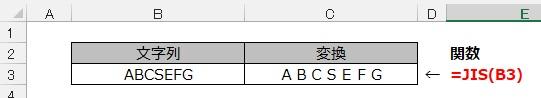 JIS関数の使用例